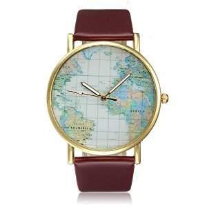 Relógio estiloso viaje o mundo